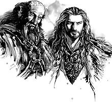 Thorin n Dwalin by evankart