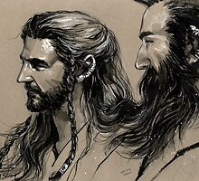 Thorin n Dwalin (2) by evankart