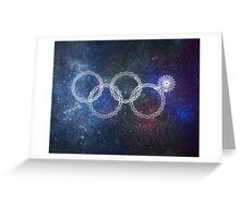 Sochi Olympic Rings Greeting Card