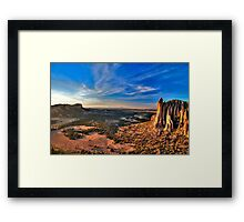 The Sawtooths and The Castle at Sunset (HDR) Framed Print