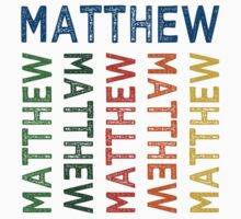 Matthew Cute Colorful by Wordy Type
