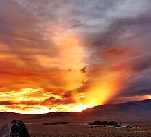 Palomino Valley Nevada Sunset by SB  Sullivan