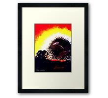 OZONE BREACH, EARTH CONTAMINATED Framed Print
