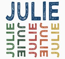 Julie Cute Colorful by Wordy Type