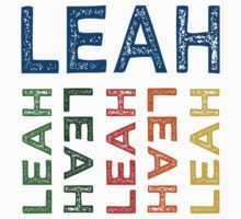 Leah Cute Colorful by Wordy Type