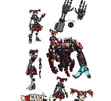 Gaige the Mechromancer for Apple by Angela Owen
