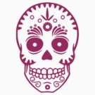 Sugar Skull 0001 purple by thatstickerguy