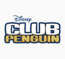 Club Penguin logo white t-shirt by joshuadistro