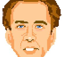 Pixelated Nicolas Cage Face by MarioGirl64