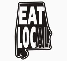 eat local Alabama black print Kids Clothes