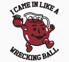 Miley Wrecking Ball KoolAid Spoof Funny Shirt and Stickers by sturgils