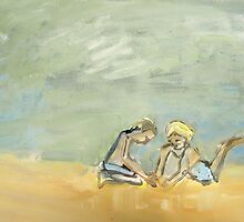 2 boys and the sandcastle by donnamalone