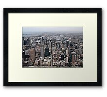 My town Framed Print
