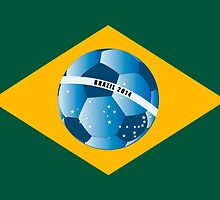 Brazil flag with ball by siloto