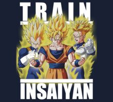Train insaiyan - Goku Vegeta Trunks by Ali Gokalp