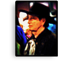 Mysterious Stranger in Town Canvas Print