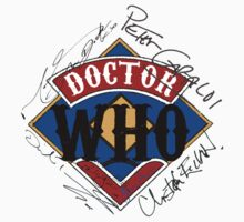 Doctor Who Autographs around a Logo by MnRMnR