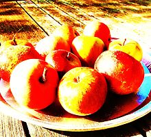 Bowl of Apples- Unique Photography by Vincent J. Newman