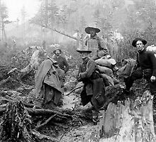 GOLD SEEKERS in the KLONDIKE  1897 by Daniel-Hagerman