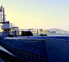 The Submarine and Alcatraz ! by printerbill