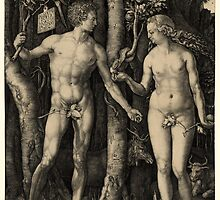 ADAM & EVE by ALBRECHT DURER  1504 by Daniel-Hagerman