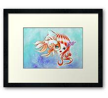 Dreamland Muses - Jellyfish Girl & Goldfish Framed Print