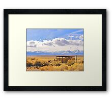 Meanwhile At The Ranch Framed Print