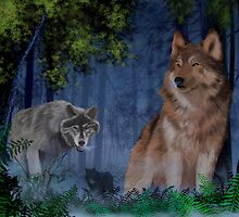 Wolves in the mist number 2 by larryr33