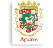 Aguirre Shield of Puerto Rico Metal Print