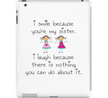 Sister Smile iPad Case/Skin