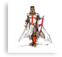 Templar Knight Canvas Print