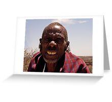 Elder Masai Warrior Greeting Card
