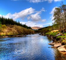 River Orchy by English Landscape Prints