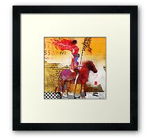 Amazons riding an horse Framed Print