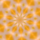 Orange Starburst Kaleidoscope by taiche
