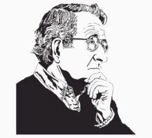 Noam Chomsky - Portrait by Kelmo