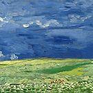 Vincent van Gogh - Wheatfield under thunderclouds by TilenHrovatic