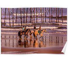 Morning Ride Saltburn Poster