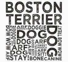 Boston Terrier by Wordy Type