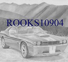2011 Dodge Challenger SRT8 CLASSIC CAR ART PRINT by rooks10904
