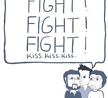 Fight! Kiss! by childishgavino
