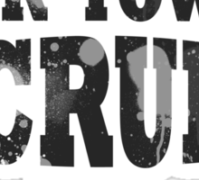 Scrubs Spray this town -Black Sticker