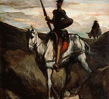 Honore Daumier - Don Quixote in the Mountains by TilenHrovatic