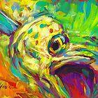 Mahi Study - Contemporary Dolphin Fish Art by Mike Savlen
