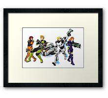 X-COM's Mystery Gang Framed Print