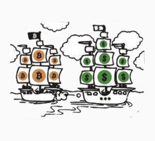 Bitcoin vs Money Pirate Ship Fight by NibiruHybrid