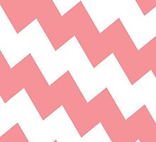 Chevron Bias in Coral by House of  Jennifer