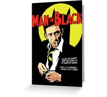 Man in Black Greeting Card