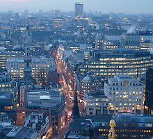 London at dusk by LCarmody