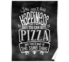 Pizza Lover's Poster - Chalkboard Style Poster